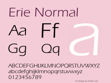 Erie Normal 1.0 Wed Nov 18 00:49:58 1992 Font Sample