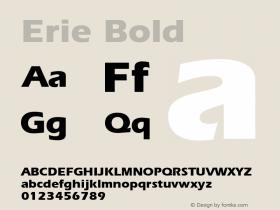 Erie Bold 001.003 Font Sample