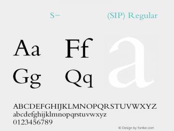 方正宋体S-超大字符集(SIP) Regular Version 2.00图片样张
