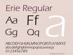 Erie Regular 001.003 Font Sample