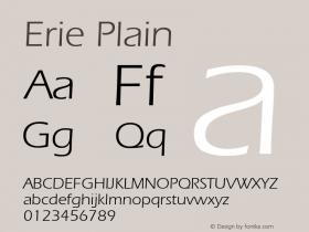 Erie Plain 001.003 Font Sample