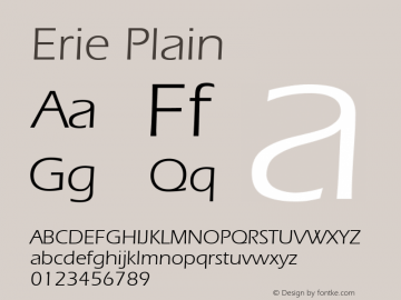Erie Plain 001.003 Font Sample