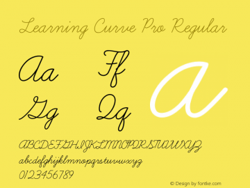 Learning Curve Pro Regular Version 1.000 Font Sample