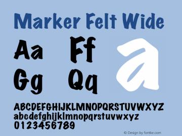 Marker Felt Wide 5.0d3 Font Sample