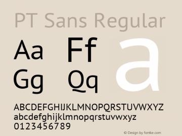 PT Sans Regular Version 1.000 Font Sample