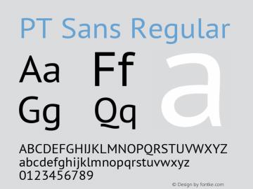 PT Sans Regular Version 2.004 Font Sample