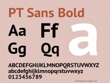 PT Sans Bold Version 2.004 Font Sample