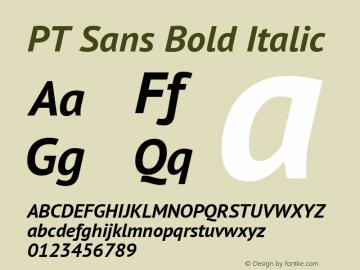 PT Sans Bold Italic Version 2.004 Font Sample