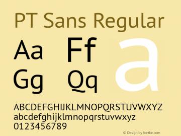 PT Sans Regular Version 2.003W Font Sample