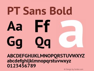 PT Sans Bold Version 2.003W Font Sample