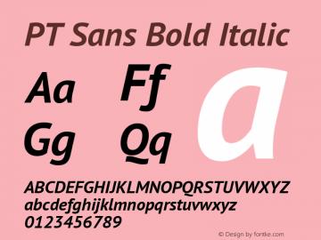 PT Sans Bold Italic Version 2.003W Font Sample