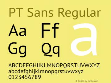 PT Sans Regular 9.0d1e1 Font Sample