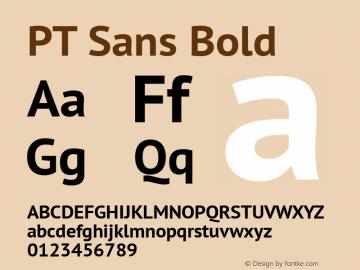 PT Sans Bold Version 2.005 Font Sample