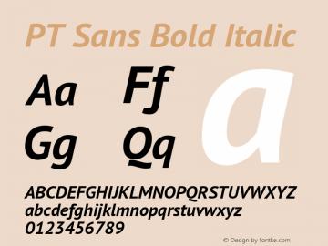 PT Sans Bold Italic Version 2.005W Font Sample