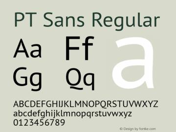 PT Sans Regular 10.0d1e1 Font Sample