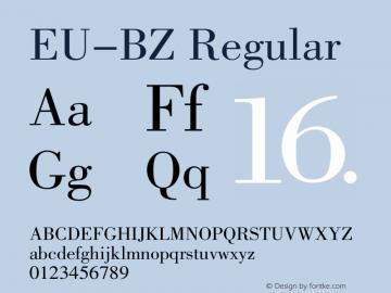EU-BZ Regular 1.00 Font Sample