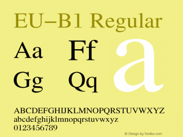 EU-B1 Regular 1.10 Font Sample