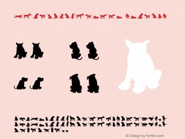 Dog30Silhouette Regular Macromedia Fontographer 4.1J 08.7.3 Font Sample