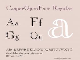 CasperOpenFace Regular v1.0c Font Sample