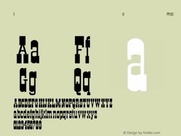 CartWright Regular Converted from C:\WIN\SYSTEM\ST000204.TF1 by ALLTYPE Font Sample