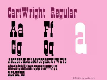 CartWright Regular Altsys Metamorphosis:12/10/93 Font Sample