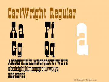 CartWright Regular Altsys Metamorphosis:4/25/91 Font Sample