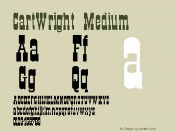 CartWright Medium Version 001.001 Font Sample
