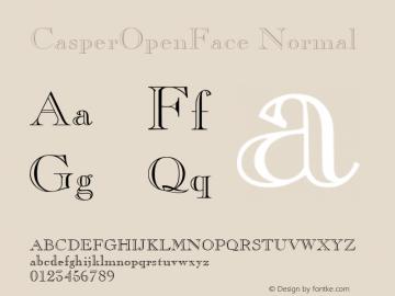 CasperOpenFace Normal 1.0 Tue Nov 17 23:34:56 1992 Font Sample
