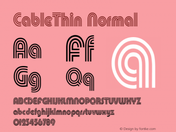 CableThin Normal Altsys Fontographer 4.1 11/1/95 Font Sample