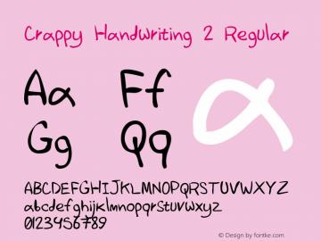 Crappy Handwriting 2 Regular Version 1.000图片样张