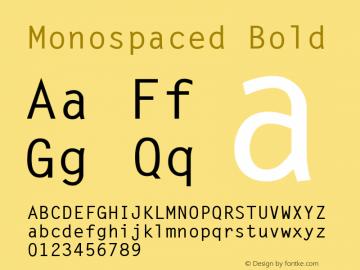 Monospaced Bold 1.0 Wed Nov 18 10:44:23 1992 Font Sample