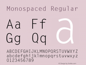 Monospaced Regular 001.003 Font Sample