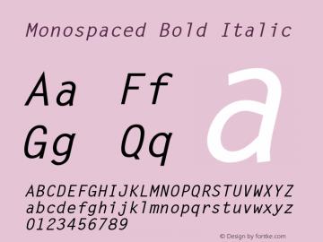 Monospaced Bold Italic 001.003 Font Sample