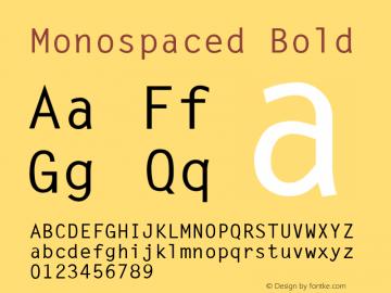 Monospaced Bold v1.0c Font Sample