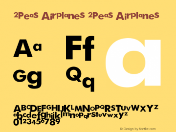 2Peas Airplanes 2Peas Airplanes 2Peas Airplanes图片样张