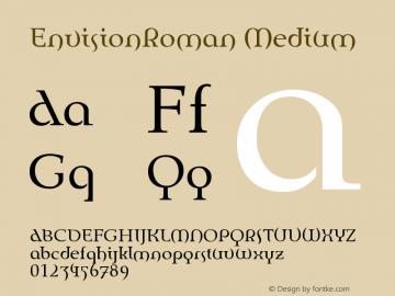 EnvisionRoman Medium Version 001.000 Font Sample