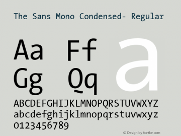 The Sans Mono Condensed- Regular Version 001.000图片样张