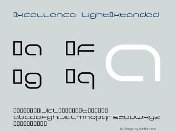 Excellence LightExtended Macromedia Fontographer 4.1.5 29.05.2001 Font Sample