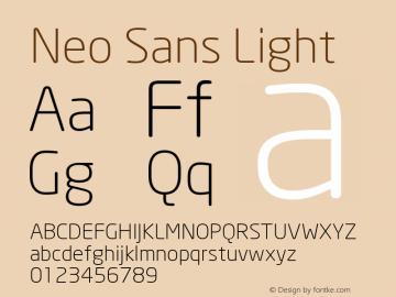 Neo Sans Light Version 001.000 Font Sample