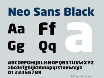 Neo Sans Black Version 001.000 Font Sample
