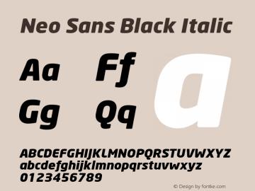 Neo Sans Black Italic Version 001.000 Font Sample