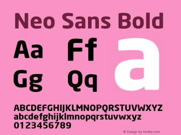 Neo Sans Bold Version 001.000 Font Sample