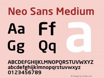 Neo Sans Medium Version 001.000 Font Sample