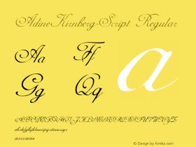 AdineKirnberg-Script Regular Converted from C:\TTEMP\ADINEKIR.TF1 by ALLTYPE Font Sample