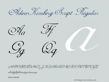 AdineKirnberg-Script Regular Converted from C:\WIN\SYSTEM\ADLINE.TF1 by ALLTYPE Font Sample