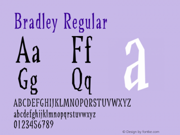 Bradley Regular 001.000 Font Sample
