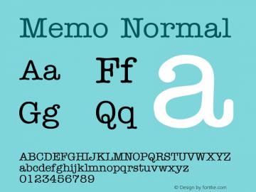 Memo Normal Altsys Fontographer 4.1 5/9/96 Font Sample