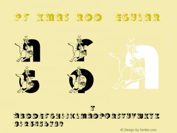 pf_xmas_roo Regular 2001; 1.0, initial release图片样张