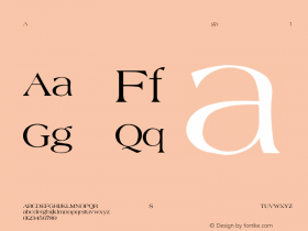Agate-Normal Regular Converted from C:\TTEMP\AGATE.TF1 by ALLTYPE Font Sample