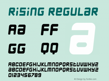 Rising Regular Macromedia Fontographer 4.1.3 8/13/02图片样张